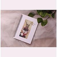 Sổ tay vẽ màu nước - 225gsm - A5 - Vân ngang Cold Press - Khổ A5