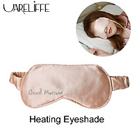 Uareliffe Silk Sleep Eye Mask Electric Three Levels Intelligent Constant Temperature Sleeping Blindfold Eye Care Heating Massager Relieve Fatigue Steam Shading Washable Eye Masks Portable Travel Household Eyepatch