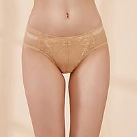 Ou Difen women's underwear in the waist briefs mesh no traces pants female sense hip lace underwear XP8260 brown M
