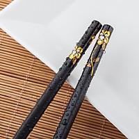Bộ 10 đôi đũa 5 màu nhựa khảm hoa dùng ăn cơm cao cấp chịu nhiệt chống trơn