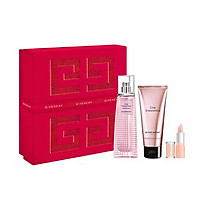 Set Nước Hoa Nữ Givenchy Gift Set Live Irresistible Blossom Crush Edt 50ml + Body Cream 75ml + Le Rouge Perfecto N01
