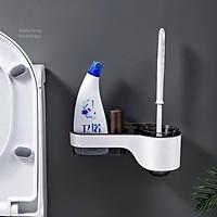 kệ dán tường, kệ để chổi cọ bồn cầu, kệ nhựa, kệ để đồ phòng tắm phong cách hiện đại