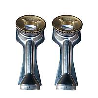 Bộ 2 điếu inox đầu đốt bằng đồng dùng cho bếp gas inox, bếp gas mặt kính
