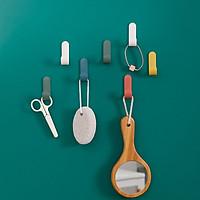 Móc nhựa chữ J dán tường treo đồ dùng nhà bếp phòng tắm bàn làm việc, trang trí decor nhà cửa - 5 móc ( Màu ngẫu nhiên)