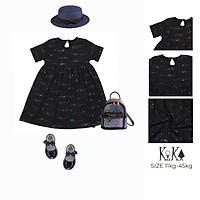 Váy Đầm Bé Gái đẹp Thun Sao Màu Thương hiệu KIKA(KK). Code K130