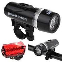 Bộ Đèn Pin Gắn Xe Đạp Power Beam Và Đèn Chiếu Hậu 5 LED WJ-101 206211