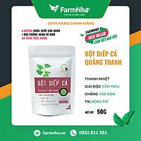 Bột Diếp Cá sấy lạnh Quảng Thanh 100% Organic Hàng chính hãng (bịch 50gr) - Hỗ trợ trị táo bón, khó tiêu, thanh lọc cơ thể, làm đẹp da [FARM NHÀ VIỆT]