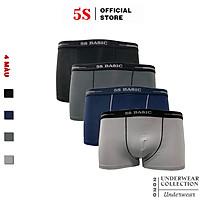 Set 4 Quần Sịp Đùi Nam 5S (5BX020-05SD) Cạp 2,5cm Chất Liệu CottonCao Cấp