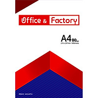 Giấy In A4-80gsm O&F (Office & Factory), 500 sheets/ Ream