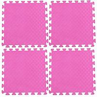 Bộ 4 tấm Thảm xốp lót sàn an toàn Thoại Tân Thành - màu hồng (50x50cm)