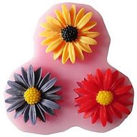 Khuôn rau câu silicon 3 hoa cúc