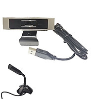 Webcam CM-330G Kèm Microphone Thu Âm M-306 Black Giúp Live Stream Học Trực Tuyến