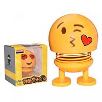 Emoji lò xo lắc đầu thú nhún mặt cười cảm xúc để trên xe, trên bàn