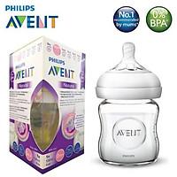 Bình Sữa Thủy Tinh Philips Avent Natural 120ml / 240ml mô phỏng tự nhiên