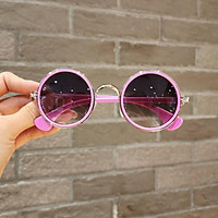 Children's sunglasses、 Children's sunglasses tide personality girls anti-UV fashion ink mirror round boys baby 2-8 sleeper