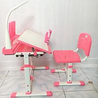 Bộ bàn học thông minh chống gù, chống cận  thị cho bé từ 3-18 tuổi NT03, bàn ghế tùy chỉnh chiều cao, tặng đèn led không dây 3 chế độ và chống cằm