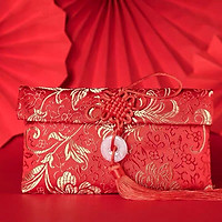 Túi gấm đỏ có dây treo đựng tiền lì xì màu đỏ dùng để làm quà tặng, biếu, để đựng tiền sưu tầm.