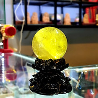 Quả cầu Thạch Anh Vàng Thiên Nhiên Đk 6.7cm Dành Cho Người Mệnh Kim Và Mệnh Thổ - DTB_QCV003