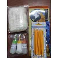 Bộ đồ chơi đất sét Nhật A kèm dụng cụ nặn, hộp màu để làm tượng chibi, đồ chơi, móc khoá