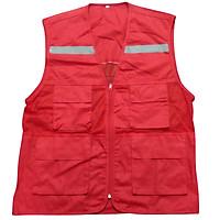Áo ghile phản quang màu đỏ
