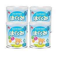 Combo 4 hộp Sữa Morinaga Số 1 - Hagukumi (320g) mới  bổ sung ARA - Tặng túi đeo chéo