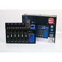 Bàn trộn Mixer F7 USB - 7 kênh cao cấp - Có bluetooth, chống hú tuyệt đối - Chuyên hát livestream, karaoke gia đình