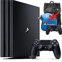 Máy Playstation PS4 PRO 2TB CUH-7218C + Combo quà tặng: Tay bấm game, Balo & Nón bảo hiểm PS4 - Hàng chính hãng