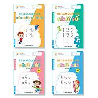 Bé Làm Quen Với Chữ Cái - Danh Cho Trẻ 5-6 Tuổi - Combo Tủ Sách Mầm Non