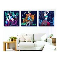 Bộ tranh cô gái trừu tượng - Tranh canvas
