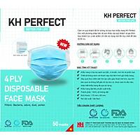 Combo 3 hộp khẩu trang y tế  Khánh Hưng 4 lớp kháng khuẩn Perfect Mask