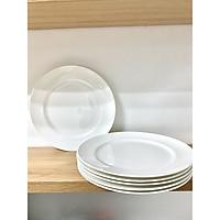 Bộ 6 dĩa phẳng 27cm sứ xương thương hiệu Royal Porcelain - Hàng nhập khẩu