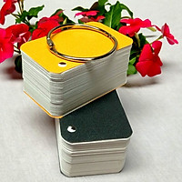 100 thẻ Flashcard Trắng học tiếng Nhật 4x7cm bo 4 góc - Flashcard Phan Liên
