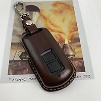 Bao da chìa khóa xe LEAD - H.o.n.d.a - da bò thật - màu nâu - handmade DT294