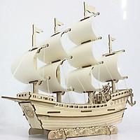 Đồ chơi lắp ráp gỗ 3D Mô hình Thuyền Thương gia Laser BZQ-045