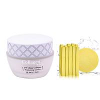 Kem Dưỡng Ẩm Trắng Da Hàn Quốc Cao Cấp Whitening Cream 3W Clinic Collagen (60ml) + Tặng Bông Bọt Biển Massage Mặt Cao Cấp Hàn Quốc Mira (6 miếng/bịch) – Hàng Chính Hãng