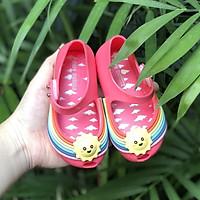 Giày búp bê cao su cầu vòng siêu cưng cho bé gái - có hình thật