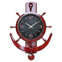 Đồng hồ kim khung gỗ Trọng Tín 2104-2
