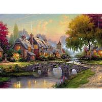 Tranh ghép hình 1000 mảnh 2cm khổ 54×74 – Tranh xếp hình Puzzle cao cấp Ngôi nhà hạnh phúc – Happy House