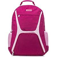 Larkpad Leke School Middle School Student Bag Men and women Leisure Reduced Backpack Lightweight Large Capacity Computer Bag Rose Red