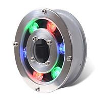Đèn LED âm nước dạng bánh xe 6W đổi màu 12VAC - Đèn âm nước có lỗ 6w