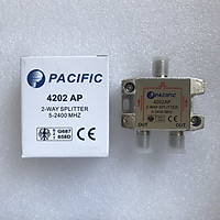 Bộ Chia 2 Pacific 4202AP Dùng Chia Chảo, Truyền Hình Cáp, Anten KTS - Hàng Nhập Khẩu
