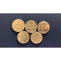 Combo 2 Đồng xu 1 dollar singapore may mắn XSGP180