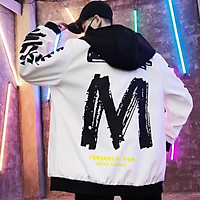 ÁO khoác  nhẹ  nam 2 lớp  họa  tiết chữ  M sau lưng  ,phong cách  hot trend