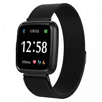Đồng hồ thông minh theo dõi sức khỏe smartwatch Colmi Y7P dây thép (màu đen) - Hàng chính hãng