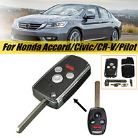 4 Buttons 3 buttons PANIC Uncut Blade Flip Folding Remote Key Shell Case for Honda Accord Civic CR-V