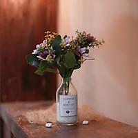 Bình hoa giả để bàn đẹp Cúc giả màu Vintage