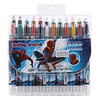Sáp Vặn Ngắn Rolling Crayon 24 Màu (2528-24)