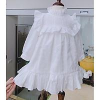 đầm cho bé gái Váy Trắng cho bé- Đầm Cho Bé Hàng Thiết Kế Cao Cấp VNXK Bé Từ 1 - 8 Tuổi