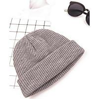 Mũ len trùm đầu phong cách Hip Hop NL17, Nón len trơn phong cách Hàn Quốc dành cho cả nam và nữ - Màu xám