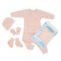 Set quần áo cài chéo 5 món vải modal làm từ sợi cây sồi siêu mềm và thoáng khí  Comfybaby size sơ sinh Newborn - tặng đồ chơi dễ thương